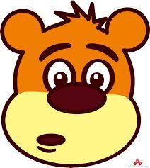 illustration of cartoon bear face stock vector crafts pinterest rh pinterest com cartoon bear face clipart cartoon bear face pictures