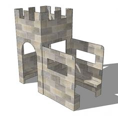 Wooden castle playhouse, activity playhouse | Castle playhouse ... on castle playhouse ideas, castle playhouse with slide, castle bedroom designs, cardboard castle designs, castle playhouse plans, castle patio designs, lego castle designs,