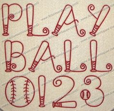 Play Ball Font 3 Sizes Alphabet Embroidery Design Play Ball Font 3 Sizes Alphabet Embroidery Design Includes 1 inch, 2 inch and 3 inch Alphabets Numbers and upper case letters Satin Stitch Caligraphy Alphabet, Handwriting Alphabet, Hand Lettering Alphabet, Embroidery Alphabet, Embroidery Fonts, Machine Embroidery, Etsy Embroidery, Monogram Fonts, Monogram Letters
