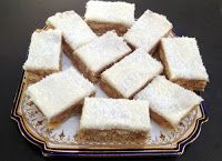 Thermomix® No Bake Lemon Coconut Slice - TM Essentials Baking Recipes For Kids, My Recipes, Cookie Recipes, Lemon Coconut Slice, No Bake Bars, Hungarian Recipes, Savoury Dishes, Winter Food, Food Lists