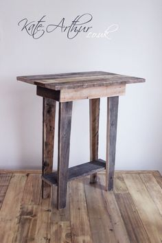 Pallet project - end table idea-I like this but maybe a little wider