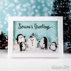 I finally have a small break to do some personal projects and finish up those Christmas cards I'm so incredibly behind on! It's been awhile since I picked up these Arctic Penguins, but I recently t...