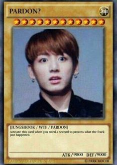 """""""i can't,"""" you whimpered. Yugioh Trap Cards, Funny Yugioh Cards, Funny Cards, Bts Memes Hilarious, Cute Memes, Funny Relatable Memes, Bts Namjoon, Jimin, Memes Humor"""