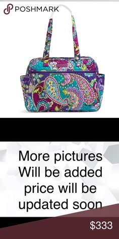 """Vera Bradley Baby Bag Heather NWT Vera Bradley Baby Bag   16"""" w x 11 ¾"""" h x 5 ½"""" d with 12"""" strap drop Ample pockets both inside and out keep baby's necessities neatly organized. The zip closure keeps everything secure. Details  Exterior features a front slip and two side pockets. Interior features two slip pockets. Zip closure. Vera Bradley Bags Baby Bags"""