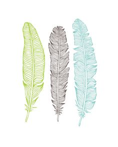 Oh So Lovely: FREE FEATHER PRINTABLES - 5 designs