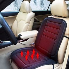 Specification: 100% Brand New&High Quality Enjoy Immediate Warmth At Your Seat. Fits In All Different Sizes Of Cars, Or RV Seats Plug Into A Standard Cigarette Lighter And Heats Up Immediately Tempera