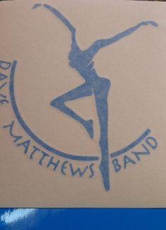 DMB Dave Matthews Band Firedancer Blue Vinyl Decal by nockonwood, $3.00