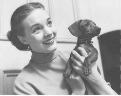 Julie Andrews and pet dachshund