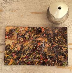 Handmade Glass tray Fall abstract by LynnNeuman on Etsy