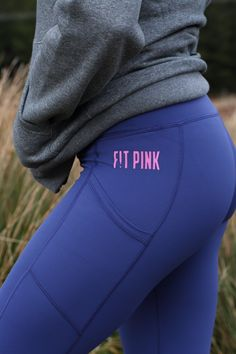 High waisted, medium support, deep pockets 4 Way Stretch Fabric, Sports Leggings, Squats, Abs, Deep, Pockets, Running, Medium, Blue