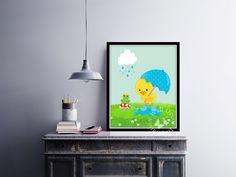 Cute #AprilShowers  | #KidsRoom | #NurseryRoom | Art Print | Home Decor Print | #Printable by InspirationWallDecor on Etsy. Check more #digitalprint #walldecor #artprint themed at my #etsy store:  www.etsy.com/shop/InspirationWallDecor