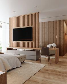 Master Bedroom on Behance Master Bedroom Interior, Modern Master Bedroom, Bedroom Decor, Bedroom Tv, Mater Bedroom, Deco Studio, Design Hotel, Home Room Design, Luxurious Bedrooms