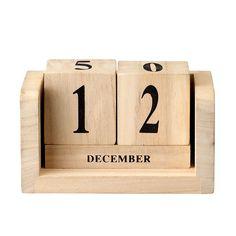 Drewniany kalendarz (naturalny) Bloomingville ScandiShop.pl - Skandynawskie Inspiracje