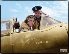 Flight Lieutenant Denis Barnham, Spitfire Vc (Trop) BP955, 601 Squadron RAF with Flight Commander Mike 'Pancho' Le Bas. Luqa, Malta. Late April 1942.