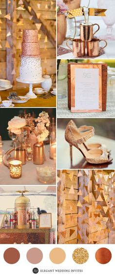 Gold and Copper Wedding Decor Inspiration