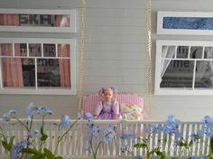 Pikkuprinsessan nukkekoti Willa Helmiina/Dollhouse to my little Princess. How to make terrace swing