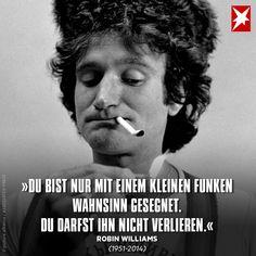 Robin Williams war ein genialer und beliebter Schauspieler. Er verstarb leider viel zu früh – doch dieser Satz bleibt.