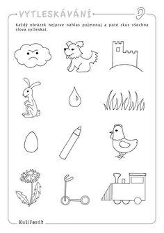 Výsledek obrázku pro průpravné cvičení k nápravě hlásek l Diy For Kids, Crafts For Kids, Baby List, Activities For Kids, Kindergarten, Preschool, Logos, Activities, School