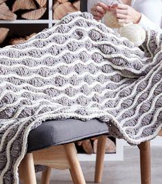 1f13735f81 Make A Trellis   Tassels Knit Afghan