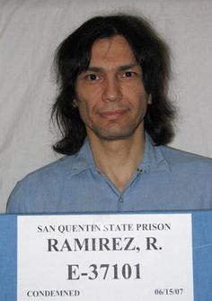 "Richard Ramirez, the serial killer who terrorized Southern California in the as the ""Night Stalker,"" has died in prison while awaiting execution. Ramirez died of natural causes at Marin General Hospital.He was 53 years old. Charles Manson, Paranormal, San Quentin State Prison, True Crime Books, Ghost Adventures, Criminology, 24 Years, Fun Comics, Criminal Minds"
