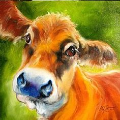 Art: SWEET JERSEY COW by Artist Marcia Baldwin