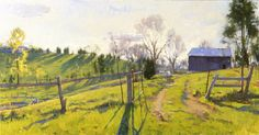"""Open Gate,  Oil on canvas,  26"""" x 52""""      Collection of the Tennessee State Museum"""