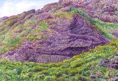 Jana Haasová – Island inspirující   2/2019   Heartcore/Srdcaři Basalt Rock, Watercolor Landscape, Magick, Vineyard, Pastel, Volcanoes, Island, Drawings, Plants