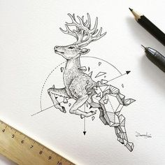 Geometric Design by @kerbyrosanes - Check out @artscloud for more amazing art