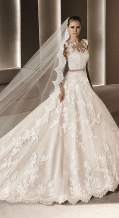La Sposa 'Roby'.  Size 12.  Oyster.  Wa £1795, You pay £800.  Immaculate unworn sample.