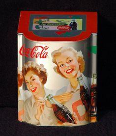 """Vintage Collectible Coke 1998 Drink Coca Cola Unique Display Tin approx 5-1/2"""""""