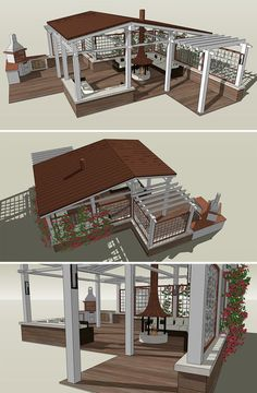 Беседка - визуализация (Ландшафтный дизайн/Генплан) - фри-лансер Алёна Денисова [Rea_Silvia].: