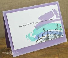 Peace Fill Your Soul Card by Nichole Heady for Papertrey Ink (February 2013)