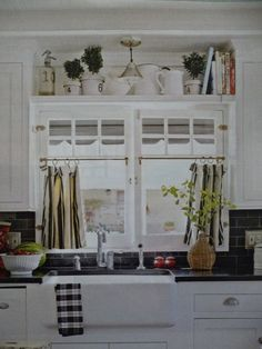Cafe Curtain With Plant Shelf | For The Cafe Curtains We Used The Same  Tension Rod As Last Time And ... | Kitchen | Pinterest | Plant Shelves,  Cafe Curtains ...