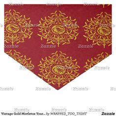 Vintage Gold Mistletoe Your Color Background Tissue Paper