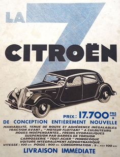 advertising Photogriffon The old ads of the years Barre De Torsion, Old Vintage Cars, Vintage Auto, Vintage Racing, Vintage Stuff, Retro Vintage, Automobile, Citroen Traction, Traction Avant