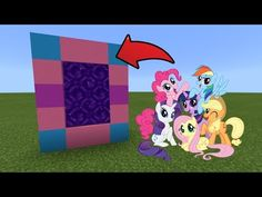 Minecraft : How To Make a Portal to the My Little Pony Dimension Minecraft Skins Cute, Minecraft Toys, Amazing Minecraft, Minecraft Pixel Art, Minecraft Crafts, Minecraft Houses, Minecraft Furniture, Lego, Minecraft Banner Designs