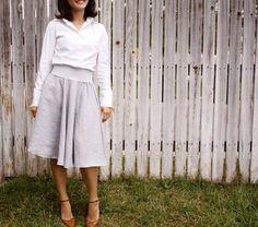 delia creates: I made a circle skirt too!