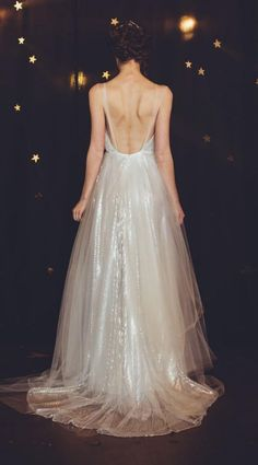 shimmering backless wedding gowns
