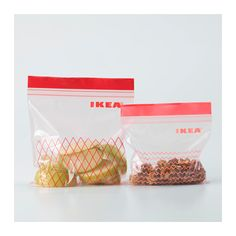 IKEA ISTAD plastic bag Can be used over and over again since it can be re-sealed.