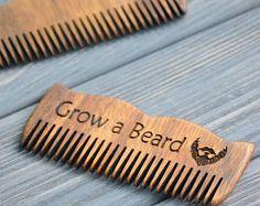 Darth Vader Engraved Wooden Beard Comb Mustache by EnjoyTheWood