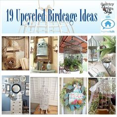 19 Upcycled Birdcage Ideas | curated by 'Country Design Style' blog!