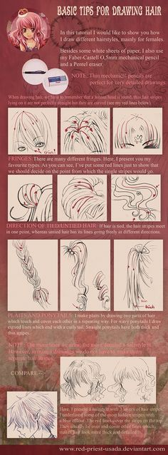 TUTORIAL: Drawing Hair by Red-Priest-Usada.deviantart.com