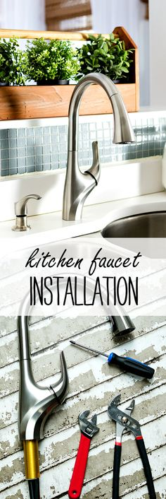 How to DIY faucet installation - kitchen faucet install diy - easy how to install a kitchen faucet