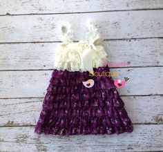 Plum / Eggplant dark purple and ivory  Vintage Lace dress- newborn outfit- infant outfit- flower girl- wedding, special occasion dress by MyLilSweetieBoutique on Etsy https://www.etsy.com/listing/156420371/plum-eggplant-dark-purple-and-ivory
