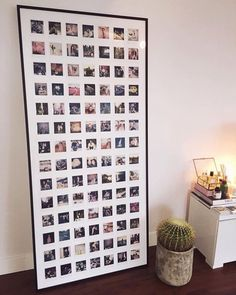 Love this frame. Polaroid Pictures Display, Polaroid Picture Frame, Polaroid Frame, Polaroids, Polaroid Ideas, Instax Mini Ideas, Young Woman Bedroom, Picture Room Decor, Picture Walls