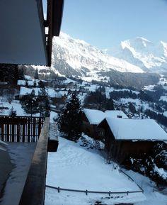 Looking from a hotel room in Wengen, Switzerland Wengen Switzerland, Seize The Days, Luxury Travel, Adventure Travel, Vsco, To Go, Europe, Mountains, World