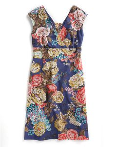 Joules Joules Outlet Womens Dress, Floral. This mock-wrap dress is adorned with a classic Joules print. Perfect to invite along to any spring or summer soiree, the way the cut and fit will flatter you is sure to make it a favourite.