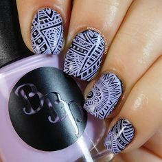 Bad Bitch Polish - Lilac - a lavender creme stamping polish. #prsample #badbitchpolish #stampingpolish #indiestampingpolish #nails #nailart