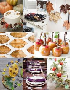 Handmade Autumn #Wedding Decorations Mood Board From The Wedding Community