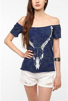 why not wear a shirt with an antelope skull?